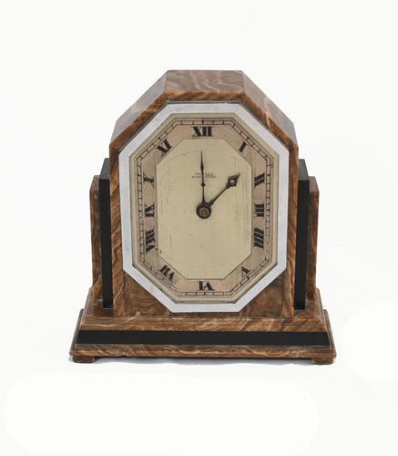 Art Deco Mantle Clock Marble Period 1920s Swinden Birmingham (1 of 8)