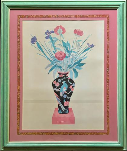 Large Original Japanese Inspired Floral Still Life Watercolour Painting (1 of 12)