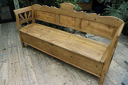 Fabulous Old (Victorian) Hungarian Box/ Storage/ Hall Bench (1 of 11)