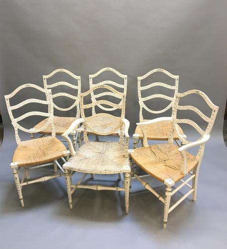 Set of 6 Sheraton Style Painted Chairs (1 of 7)