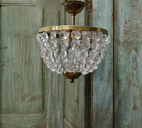 Beautiful French Empire Style Basket Chandelier (1 of 6)
