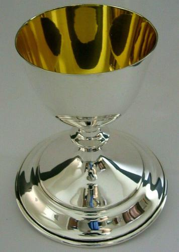 Rare Large English Solid Sterling Silver Travelling Goblet Chalice 1949 (1 of 12)