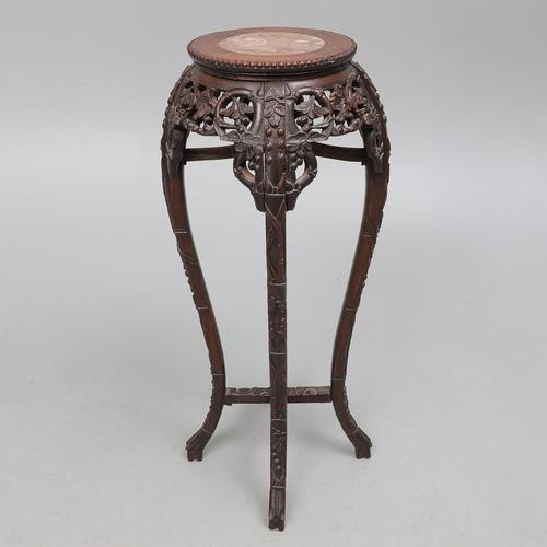 Chinese Rosewood Vase Stand (1 of 4)