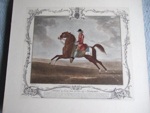 "18th century etching of ""Childers the Fleetest Horse that Ever run at Newmarket"" by Houston after Seymour (1 of 5)"