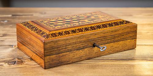 Rosewood Tunbridge Ware Table Box 1880 (1 of 9)