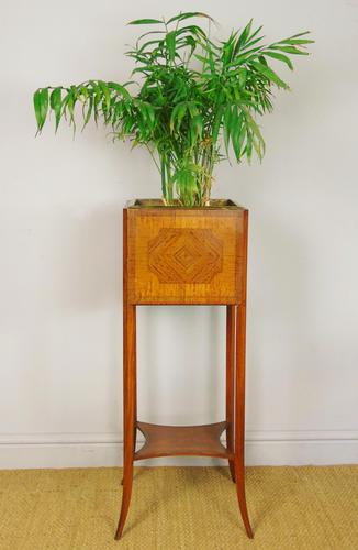 Late Victorian Inlaid Mahogany Plant Stand (1 of 6)
