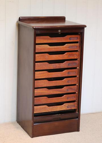 Mahogany Tambour Front Filing Cabinet (1 of 10)