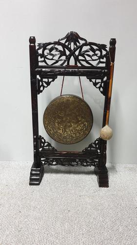 Oriental Gong in Paduke Wood (1 of 8)