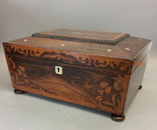 Early 19th Century Rosewood Work Box (1 of 5)