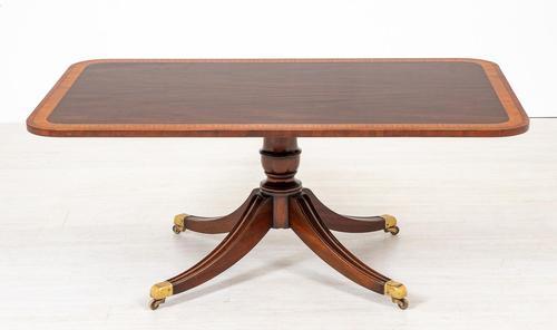 Quality Regency Style Mahogany Coffee Table c.1920 (1 of 6)