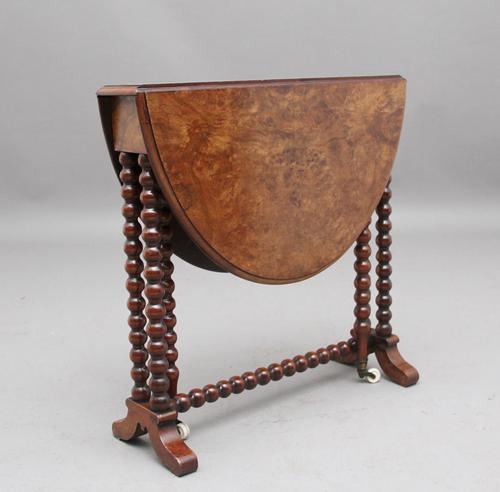 19th Century Burr Walnut Sutherland Table (1 of 6)