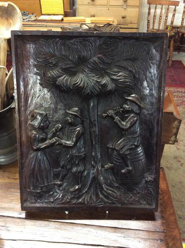 Early 19th Century Deeply Carved Oak Panel (1 of 2)