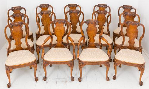 Wonderful Set of 14 George I Style Dining Chairs (1 of 4)