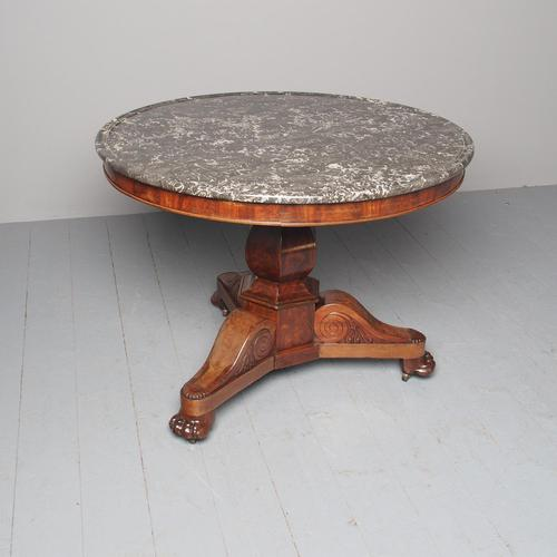French Marble Top Gueridon Circular Centre Table (1 of 8)
