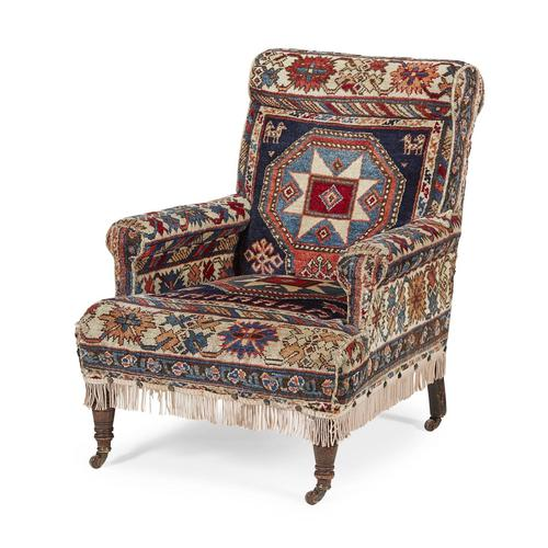 A Wonderful Antique Country House Carpet Kilim/Kelim Armchair (1 of 1)
