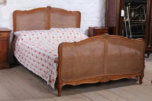 King Size Louis XV Style Caned Bed (1 of 9)