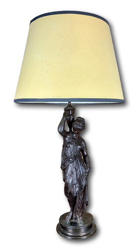 Super Quality 19th Century Lamp Featuring a Maiden (1 of 6)