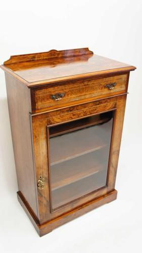 Victorian Inlaid Burr Walnut Pier  / Display Cabinet (1 of 24)
