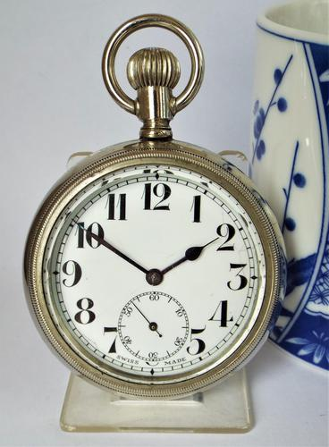Large Antique Swiss Pocket Watch (1 of 4)