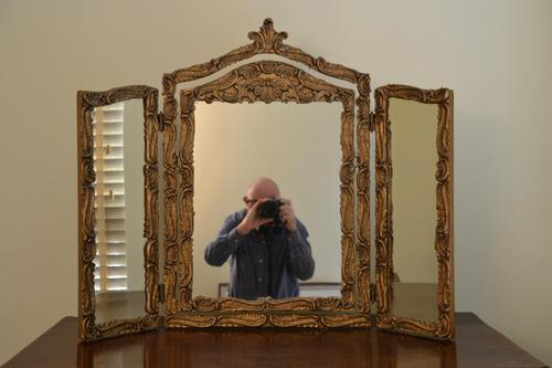 Florentine Style Triple Mirror c.1900 (1 of 2)