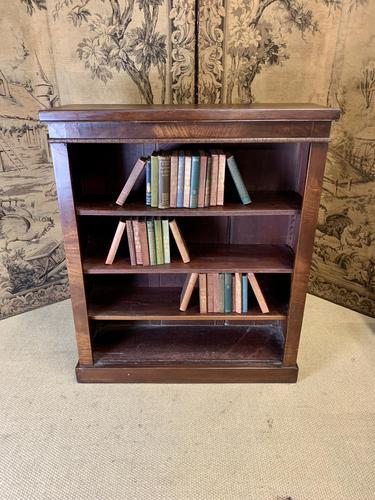 English 19th Century Mahogany Open Bookcase (1 of 5)