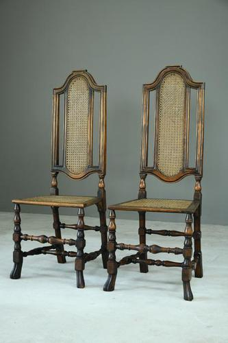 Pair of Walnut & Cane Carolean Chairs (1 of 11)