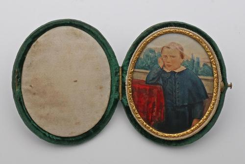 Miniature Watercolour of a Victorian Boy (1 of 1)