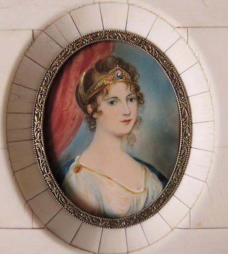 Hand Painted Miniature Portrait Princess Louise of Prussia (1 of 4)