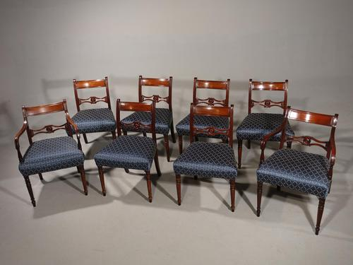 Exceptional Set of 8 Late George III Period Mahogany Framed Chairs (1 of 5)