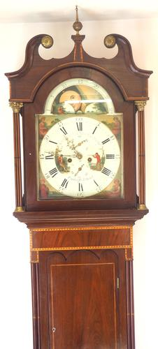 Fine English Longcase Clock Radcliff Elland 8-day Grandfather Clock with Moon Roller Dial (1 of 27)