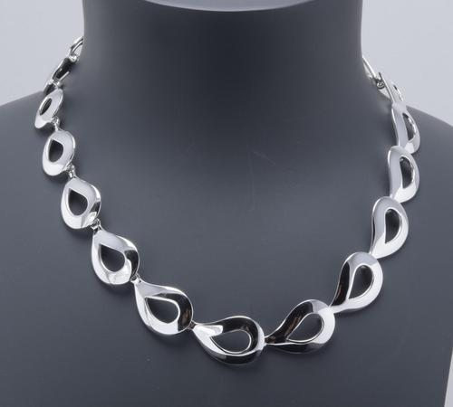 Danish Sterling Silver Necklace. 1970s. By Randers Silver (1 of 4)
