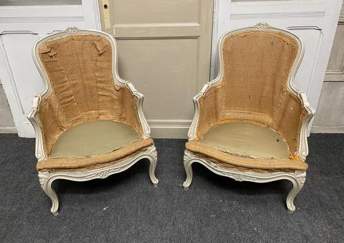 Pair of French Bergere Chairs Original Finish (1 of 14)