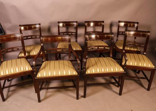 Good Set of 8 Regency Period Dining Chairs in Mahogany (1 of 13)