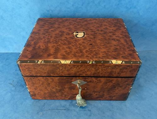 Victorian Burr Cedar Jewellery Box (1 of 11)