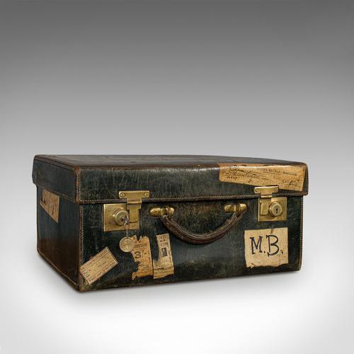Antique Travel Case, Leather, Salesman's Suitcase, JW Allen, Strand, Edwardian (1 of 12)