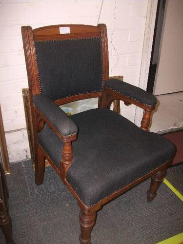 Large Throne Chair on Turned Supports (1 of 2)