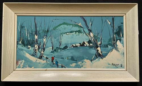 George Richard Deakins Superb Winter Landscape Oil Painting (1 of 11)