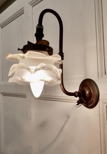 Victorian Wall Light with Flower Shade (1 of 8)