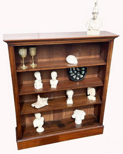 Victorian Mahogany Open Bookcase (1 of 5)