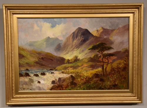 Oil Painting by Francis E. Jamieson - Brora Falls, Sutherland (1 of 5)
