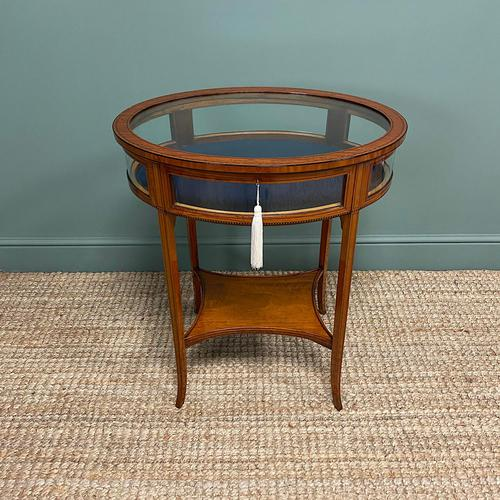Stunning Victorian Satinwood Bijouterie Jewellery Table (1 of 6)