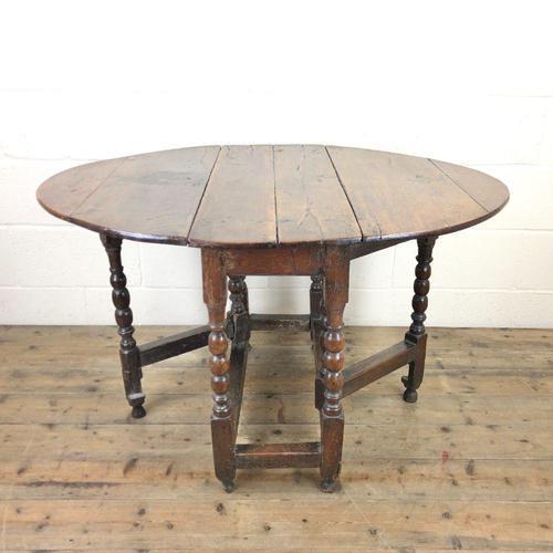 18th Century Antique Oak Gateleg Table (1 of 10)
