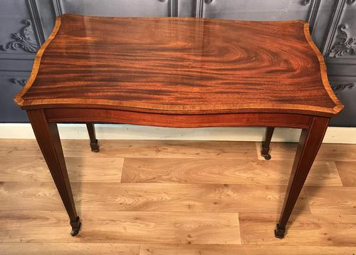 Edwardian Inlaid Mahogany Occasional Table (1 of 13)