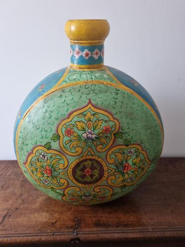 Giant Hand Painted Flask (1 of 2)