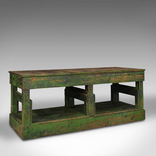 Large Antique Factory Mill Table, English, Pine, Industrial, Victorian c.1900 (1 of 10)