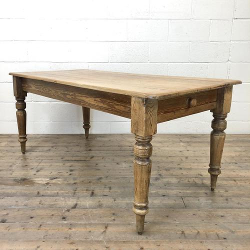Victorian Pine Kitchen Table (1 of 9)