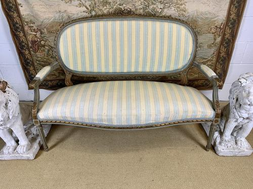 French Gilt Painted Two Seater Settee (1 of 8)