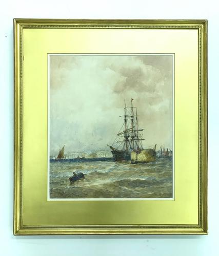 'Off Greenwich' by Thomas Bush Hardy 1842-1897 (1 of 4)