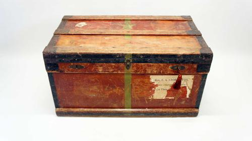 WW1 Era Marshall Campaign Chest / Trunk, Labels & Provenance (1 of 23)