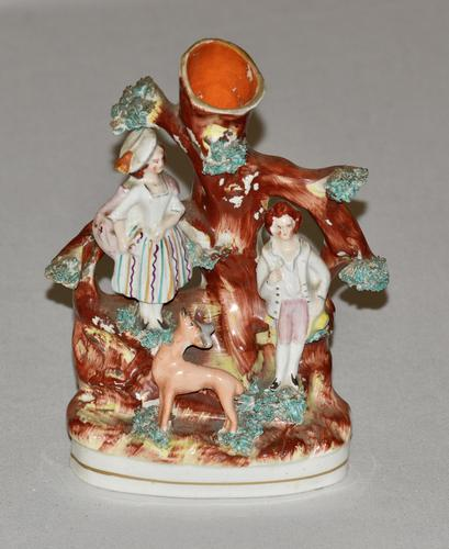 19th Century Staffordshire Spill Vase of a Courting Couple (1 of 5)